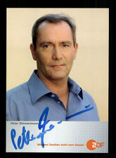Peter Zimmermann ZDF autografiada mapa original firmado # bc 83397