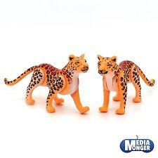 PLAYMOBIL SAFARI África OAMBATI ZOO: 1x Guepardo Leopardo PAREJA V1