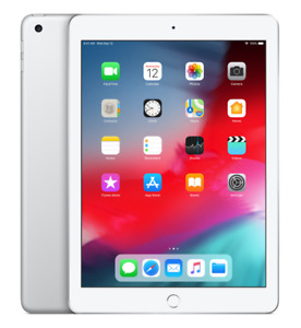 Apple iPad 6th Gen 32GB Wi-Fi 9.7in Silver Grade A Original Box & Charger Bundle