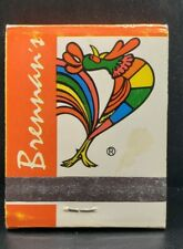 Brennans New Orleans Unstruck Matchbook