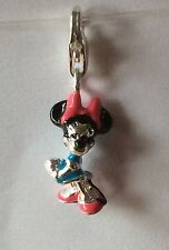 LOVELY 3D SILVER MINNIE MOUSE CLIP-ON CHARM FOR BRACELETS - 925 SILVER PLATE