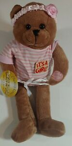 "Chantilly Lane  11"" Bright Spot Bear Singing  ""Hush Little Baby"" (It's A Girl)"