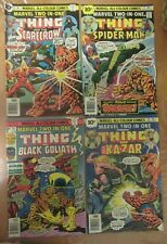 4x Marvel Two-In-One Comics, The Thing, No 16, 17, 18, 24 Bronze Era UK