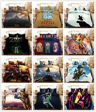 3D The Legend of Zelda Kids Quilt Cover Bedding Set Duvet Cover Pillow Sham