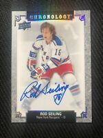 2018-19 UD CHRONOLOGY ROD SEILING FRANCHISE HISTORY AUTOGRAPH AUTO #FH-NYR-RS