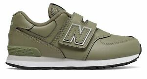 New Balance Kid's 574 Hook and Loop Little Kids Male Shoes Green
