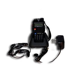 Baofeng Black UV-5R V2+ FM Radio Dual-Band Dual Display Transceiver WalkieTalkie