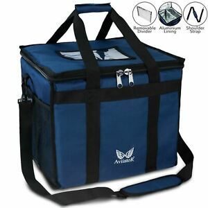 AviiatoR® Hot Food Delivery Bags With Divider Thermal Insulated / Cool Bag