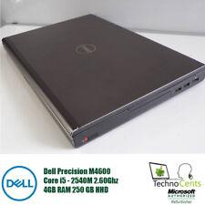 "DELL PRECISION M4600 15.6"" LAPTOP INTEL CORE i5-2540M 2.60GHZ 4GB RAM 250GB HDD"
