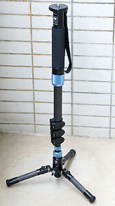 Sirui EP-224S Carbon Fiber Photo Video Monopod Load 17lb w/Mini Tripod