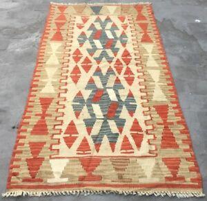 Articl1095 Vintage Handmade Turkish Kilim Area Anatolian Bedroom Wool Kilim Rug