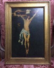 Antica stampa Crocifisso Ditta F.lli Alinari Firenze