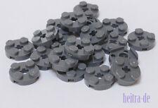 LEGO - 20 x Rundplatte 2x2 dunkelgrau / Rundplatten / 4032 NEUWARE