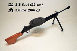 Eco wooden chldren toy Soviet machine gun DP -27