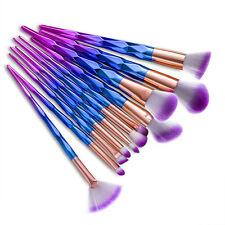 NEW 12X MAKEUP BRUSHES SET RAINBOW UNICORN HAIR POWDER EYESHADOW RAYON BRUSH