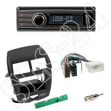 Caliber RMD212 SD-Radio + Mitsubishi ASX 2010-2014 Blende schwarz + ISO Adapter