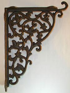 Winkel Wandhalterung XXL Eisen Antik rustikal Regalbretter Regalwinkel Wand Guss