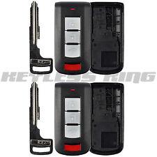 2x New Keyless Entry Remote Key Fob Shell Insert Case for 2008-2017 Mitsubishi