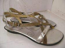 Indigo By Clarks 83781 Sandals Silver Ankle Straps Open Toe Womens Size 8.5 M