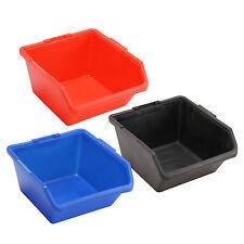 2/5/10pcs Open Fronted Storage Bins Plastic Part Bin Picking Workshop Tool Box