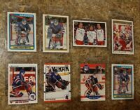 (8) Mike Richter 1990-91 Upper O-pee-chee Score Topps Rookie card lot Rangers RC