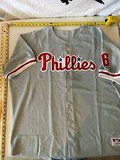 Majestic Authentic Philadelphia Phillies Ryan Howard Road Gray Jersey - Size 60