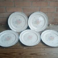 Country Basket Collections Stoneware Set of 5 Dinner Plates  JAPAN