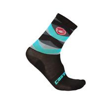 Castelli Cycling Fatto 12 Sock Black/Sky Blue Men's S/M