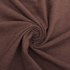 Eprom Brown Chenille Basket Weave Hardwearing Curtain Fabric For Upholstery