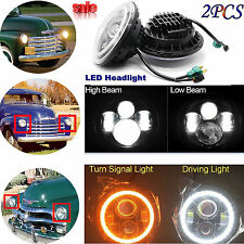 "2Pcs 7"" Led Headlight  DRL Bulbs HeadLamps For 1947-1957 CHEVY GMC PICKUP Truck"