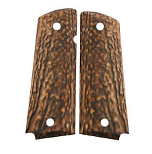 Custom Full Size 1911 Grips Ambidextrous Matte Faux Stag