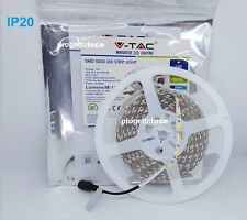 STRISCE LED V-Tac SMD 5050 Bobina da 5mt Strip CALDO FREDDO NATURALE IP20 STRIP
