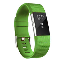 2017 Silicone Rubber Bracelet Wrist Strap Clasp Watch Band for Fitbit Charge 2