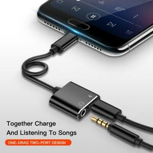 Samsung S20 S20FE S21 Note 20 Type C to 3.5mm Audio Headphone Charger Adapter