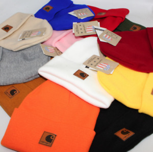 For Mens Women Acrylic Watch Beanie Knit Skiing Cap Warm Winter Hat