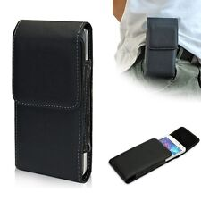 Black PU Flip Cover Holster Belt Clip Case Pouch For Samsung Galaxy S5 S V i9600