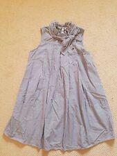 Quiksilver Women sleeveless gray white stripe dress Large L