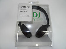 SONY MDR-V150 BLACK Monitoring DJ Stereo Headphones Original / Brand New MDRV150