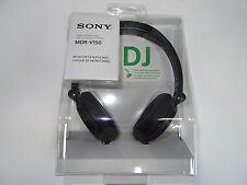 SONY MDR-V150 BLACK Monitoring DJ Stereo Headphones Original / Brand New MDRV150