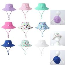 Toddler Baby Sun Hat Sunscreen Protection Wide Brim Summer Swim Beach Panama Cap