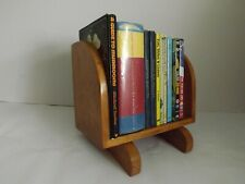 Antique light oak book trough bookshelf bookstand handmade freestanding art deco