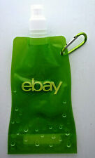 NEW ebay green Collapsible Water Bottle with Carabiner 18  ounce