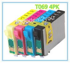 4PK T069 NON-OEM Ink for Epson WF30/610/615/1300 CX5000/CX6000/CX7400/CX8400
