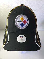PITTSBURGH STEELERS NFL Team Apparel One Size Adjustable Velcro Back Hat Cap NWT