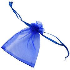 100X Jewellery Bag sachets Organza Bag blue