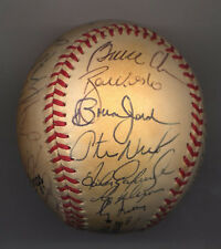 1999 Atlanta Braves Autographed Team Baseball BALL 32---WORLD SERIES TEAM---