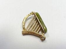 9 ct carat 375 Gold Vintage style Charm Harp