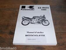 MANUEL REVUE TECHNIQUE D ATELIER KAWASAKI ZZ-R 600 1990-1992 ZZR600 ZZR 600ZZR