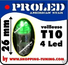 2x VEILLEUSE 4 LED Pro,W5W,T10,Vert phare 12v polarisée pour auto quad moto