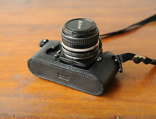 Zhou Black Leather Half Case for Nikon FM2 SLR Camera